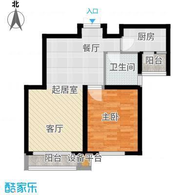 清谷74.00㎡竹园1号楼B户型