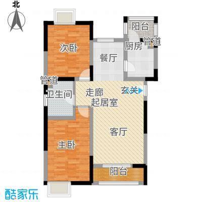 小镇西西里97.75㎡四期28号楼标准层A1户型