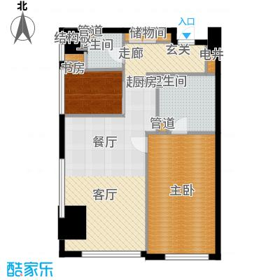 旷世国际118.00㎡B栋5-11层C3五星级酒店式公寓户型