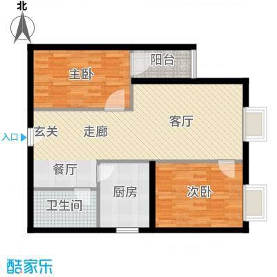 凤锦苑77.86㎡面积7786m户型