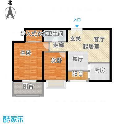 唐延鑫苑88.35㎡B21面积8835m户型