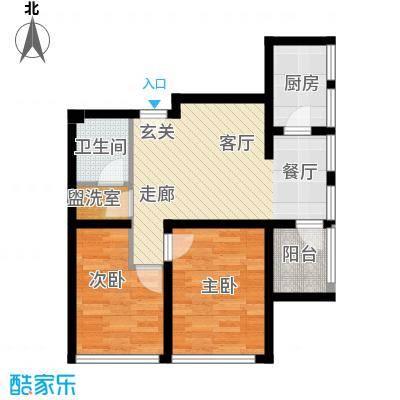 朱雀七星国际公寓83.32㎡B6#面积8332m户型