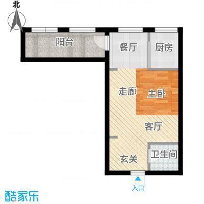 朱雀七星国际公寓59.50㎡B4-1#一面积5950m户型