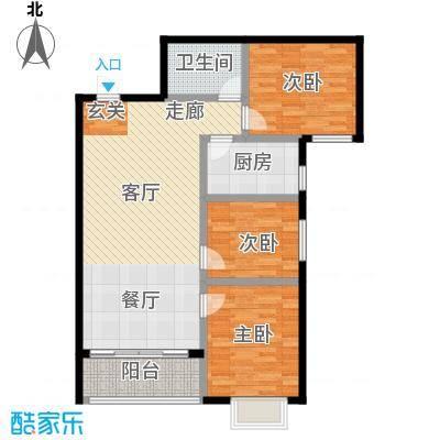 凤锦苑94.52㎡面积9452m户型