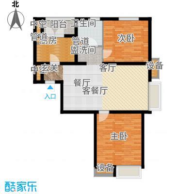 丽景名苑90.00㎡一期高层标准层A1户型