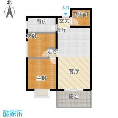 达生凤苑龙居93.00㎡面积9300m户型