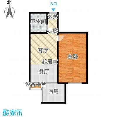 宏府嘉会公寓72.01㎡B1面积7201m户型