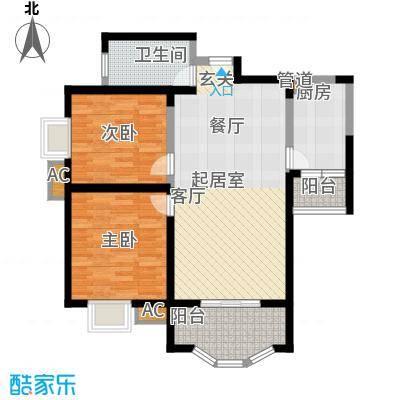 凤城三号95.91㎡1-A标准层户面积9591m户型