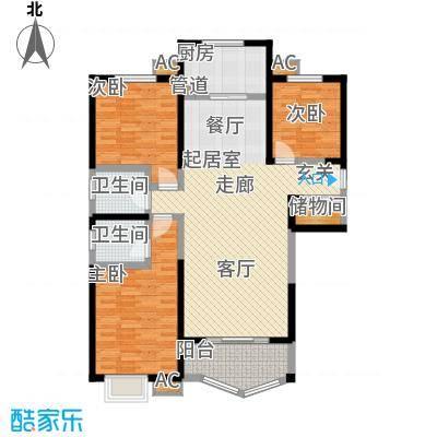 凤城三号139.40㎡3-A标准层户面积13940m户型