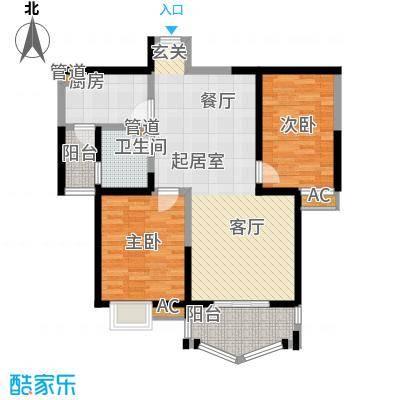 凤城三号104.33㎡3-B标准层户面积10433m户型