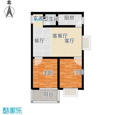 阳光80公寓77.00㎡G面积7700m户型