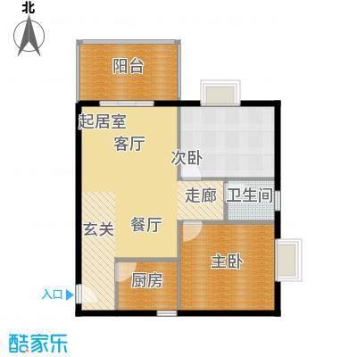 锦城四季82.05㎡3号楼-A偶数面积8205m户型