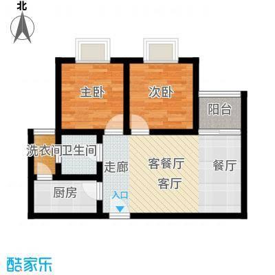 阳光80公寓66.18㎡B面积6618m户型