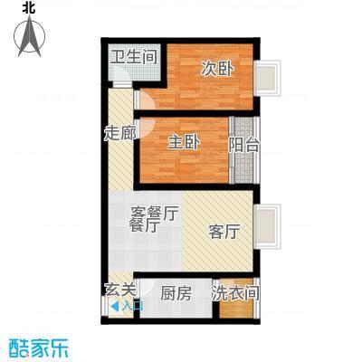 阳光80公寓81.72㎡E面积8172m户型