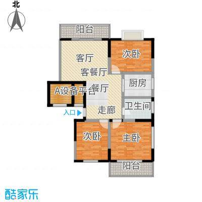兴阎温泉小区118.19㎡面积11819m户型