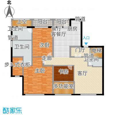 荣兴云天193.00㎡电梯面积19300m户型