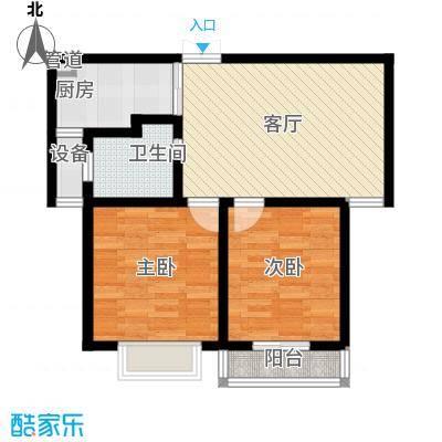 荣民国际公寓66.00㎡面积6600m户型