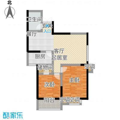 五龙汤花园89.56㎡D面积8956m户型