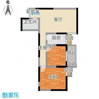 五龙汤花园81.83㎡E面积8183m户型