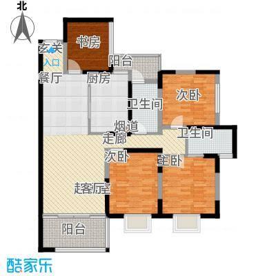 唐品A+119.94㎡高层点式楼Q3面积11994m户型
