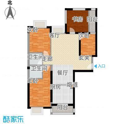 唐品A+118.91㎡高层转角A34面积11891m户型