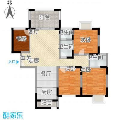 唐品A+115.50㎡高层点式楼Q1面积11550m户型