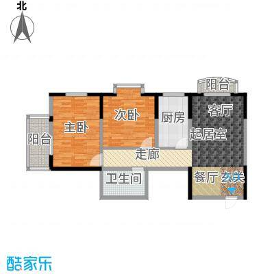 明林庭苑95.59㎡A面积9559m户型