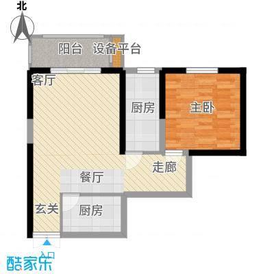 龙记帝景湾70.78㎡面积7078m户型