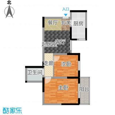 明林庭苑72.34㎡G面积7234m户型