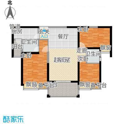 中海国际社区129.00㎡21#-129户面积12900m户型