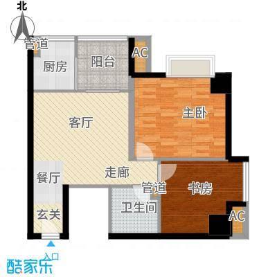 象牙宫寓78.00㎡1F1面积7800m户型