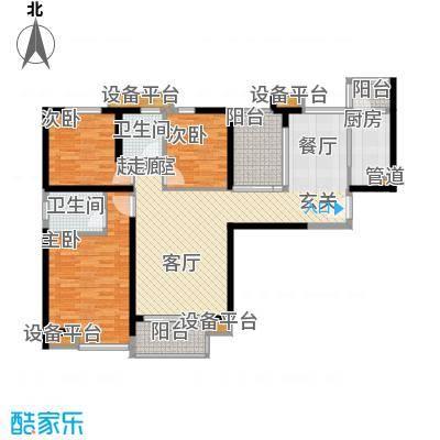 中海国际社区128.00㎡B23面积12800m户型