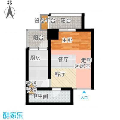 大明宫寓58.85㎡1#楼1单元面积5885m户型