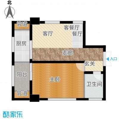 大明宫寓81.72㎡1#楼1单元面积8172m户型