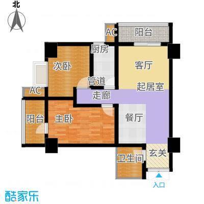 大明宫寓112.89㎡1#楼1单元面积11289m户型