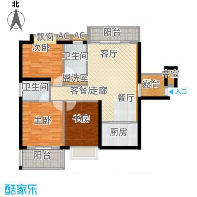 鑫汇苑小区106.00㎡面积10600m户型