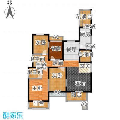 振业泊墅143.50㎡5#、6#楼A2面积14350m户型