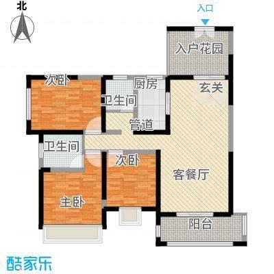 振业泊墅128.00㎡7#、8#、9#楼C3面积12800m户型