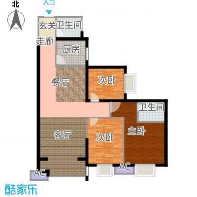 雅荷中环大厦百3-2-1-3户型