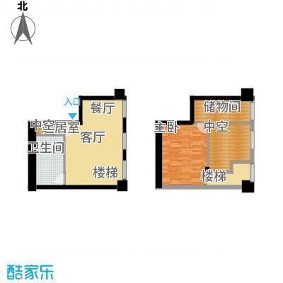 天津科技广场47.00㎡高层标准层LOFTS4户型