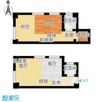 天津东方环球影城47.66㎡loft标准层D户型
