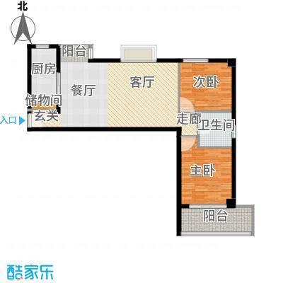瑞鑫摩天城89.98㎡2号3号楼A面积8998m户型