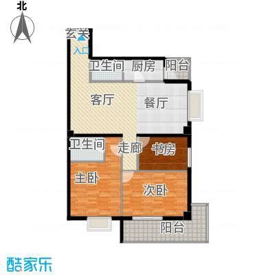 瑞鑫摩天城135.86㎡2号3号楼C面积13586m户型
