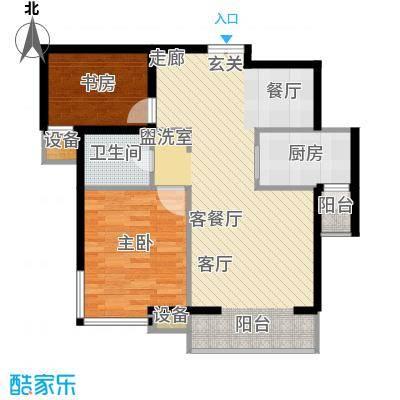 滨旅煦园97.00㎡2/3号楼小高层标准层G户型