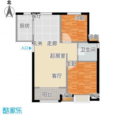 复地湖滨广场93.00㎡小高层标准层B10户型