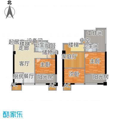 橙仕空间98.82㎡loft面积9882m户型