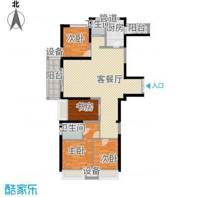 荣禾城市理想143.00㎡B2面积14300m户型
