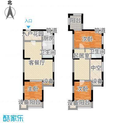 荣禾城市理想122.00㎡D2-1面积12200m户型