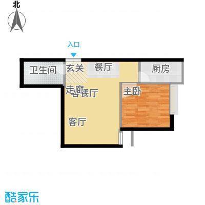 高新枫尚52.10㎡B041面积5210m户型