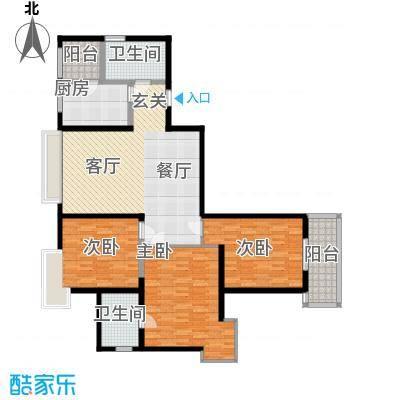 春晓馨苑128.09㎡5#D标准层面积12809m户型